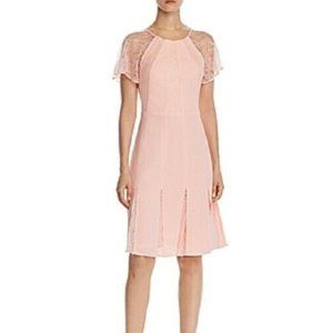 New Adrianna Papell Fit Flare Party Dress Peach